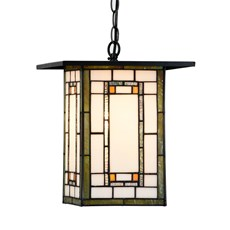 Tiffany Lampe Suspendue Frank Lloyd Wright Orange