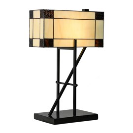 Tiffany Lampe de Table Geometric