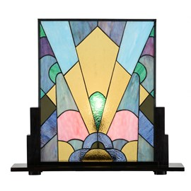 Coloured French Art Deco Tiffany Panneau