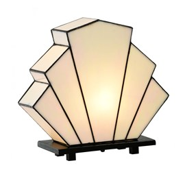 French Art Deco Tiffany Lampe de Table