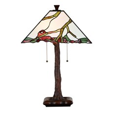 Tiffany Lampe de Table Exotic Maple