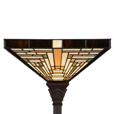 Tiffany Lampadaire Rising Sun Uplighter