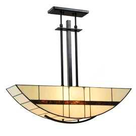 Tiffany Lampe Suspendue Geometric