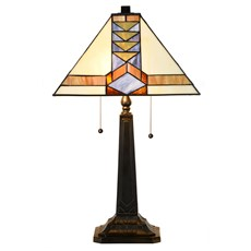 Tiffany Lampe de Table Pyramid