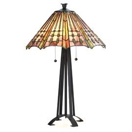 Tiffany Lampe de Table Plissé