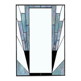 French Art Deco Miroir Blue