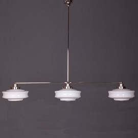 Hanging Lamp 3-Light with Glass Lampshade Bing