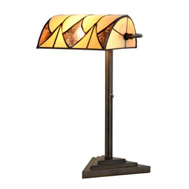 Tiffany Banker Lampe de Table Parabola