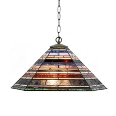 Tiffany Lampe Suspendue Industrial large