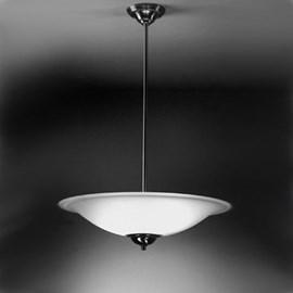 Lampe à suspension Plat avec jante en verre gravé
