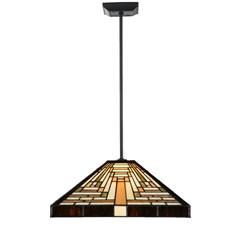 Tiffany Lampe Suspendue Serré Rising Sun pendel square