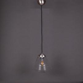 Lampe Suspendue au Cordon de Lin School de Luxe small Transparent