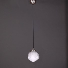 Lampe Suspendue au Cordon de Lin Vintage Lotus
