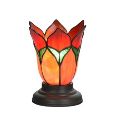 Lampe de table basse Tiffany Lovely Flower Red