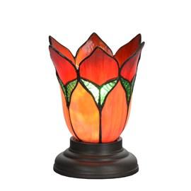 Lampe de table basse Tiffany Lovely Flower Red