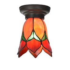 Petite Lampe de plafond Tiffany Lovely Flower Red