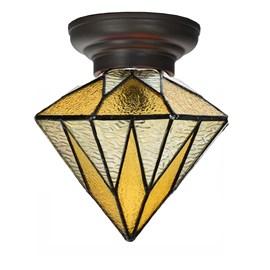 Petite Lampe de plafond Tiffany Aiko Yellow