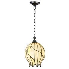 Tiffany Lampe Suspendue Nature Ouverte avec Chaîne