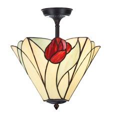 Tiffany Tulip pour Lampe de Plafond allongée
