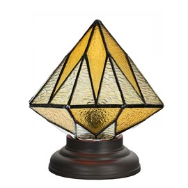 Lampe de table basse Tiffany Aiko Yellow