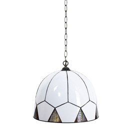 French Art Deco Tiffany Lampe Suspendue Carraway
